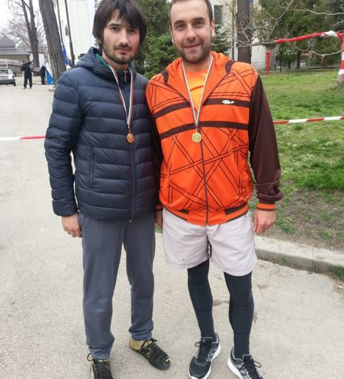 Martin Stoyanov and Ivaylo Stamatov after competition
